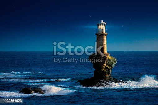 Lighthouse and storm - THE GRAIN AND TEXTURE ADDED