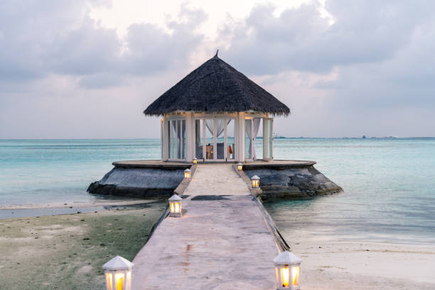 The beautiful Maldives stock photo