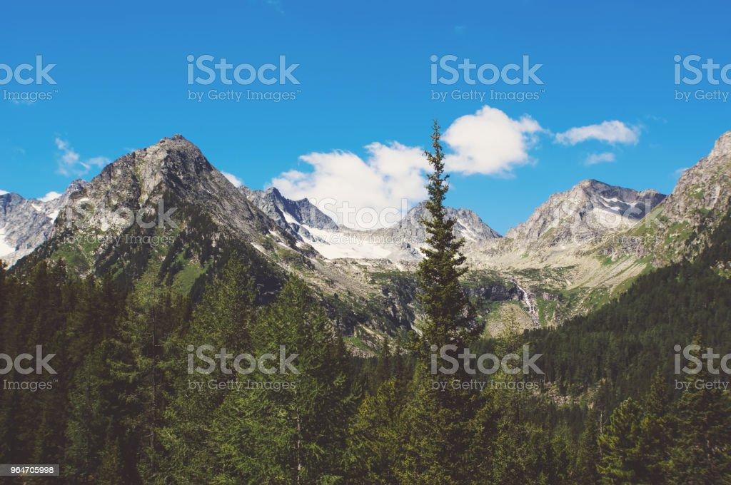 The beautiful mountain scenery royalty-free stock photo