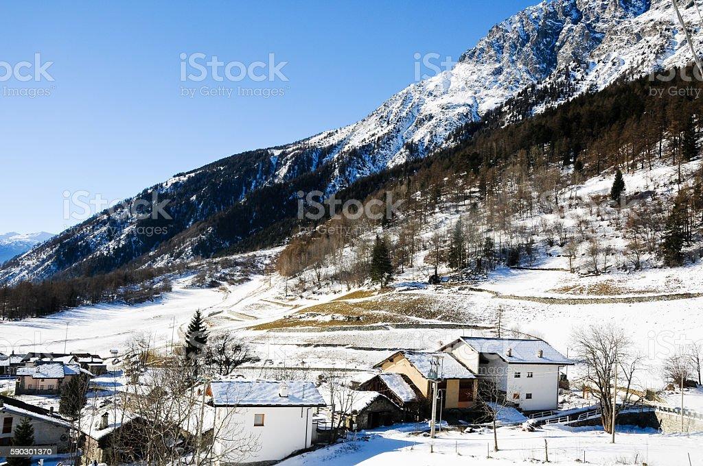 the beautiful mountains around bionaz in Valle d'Aosta,italy Стоковые фото Стоковая фотография