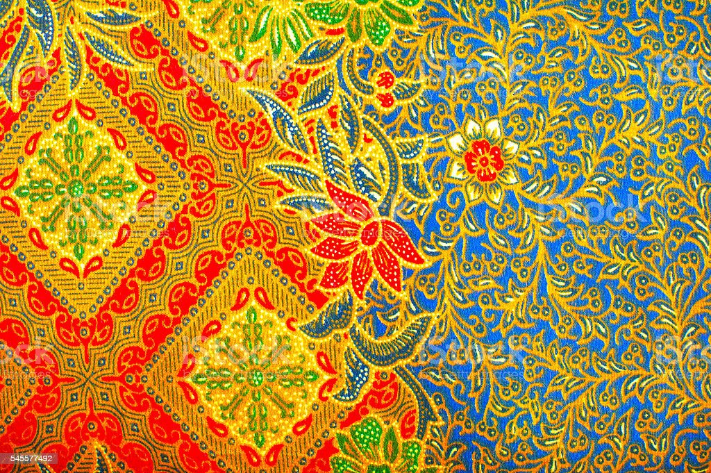 The beautiful of art Malaysian and Indonesian Batik Pattern stock photo