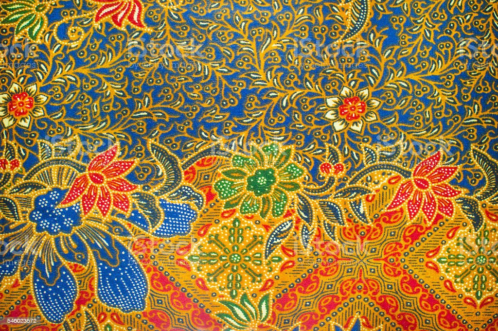 The beautiful of art Malaysian and Indonesian Batik Pattern​​​ foto