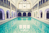The beautiful old renovated swimming pool in Berlin Mitte