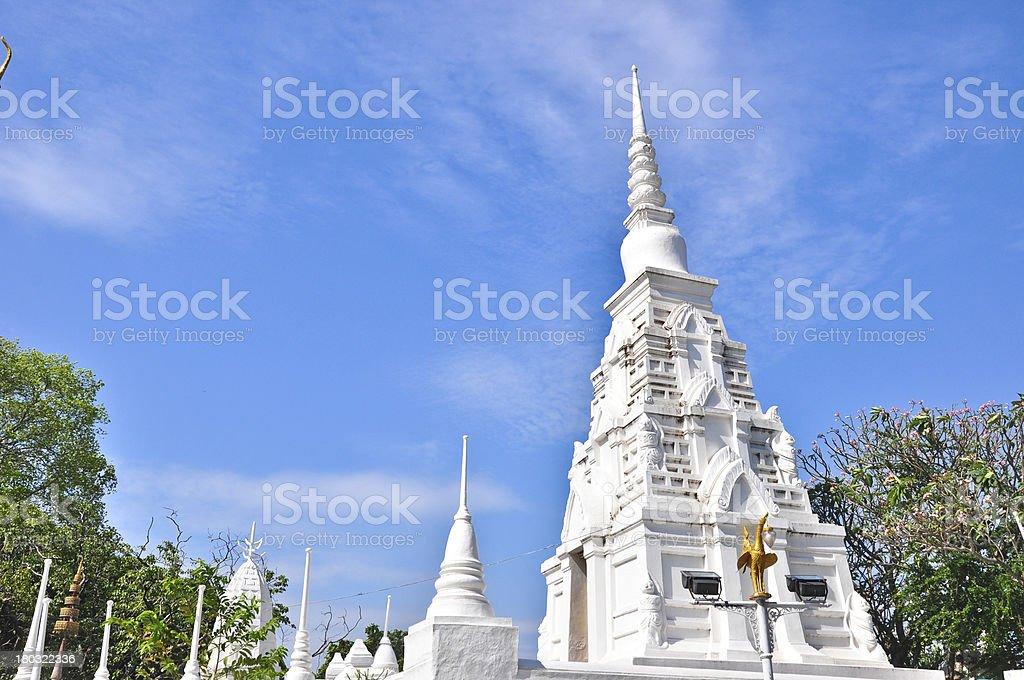 The beautiful pagoda at Wat Phra Putthabat,Thailand royalty-free stock photo