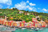 istock The beautiful Portofino with colorful houses, luxury boats and yacht in little bay harbor. A vacation resort with celebrity and artistic visitors. Liguria, Italy ,Europe 1176184064