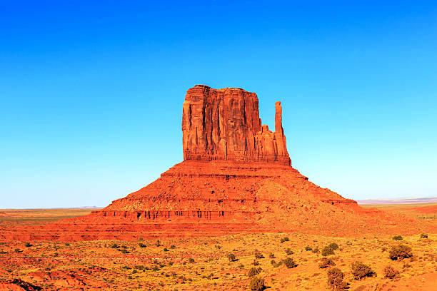 The Beautiful Red Navajo Sandstone stock photo