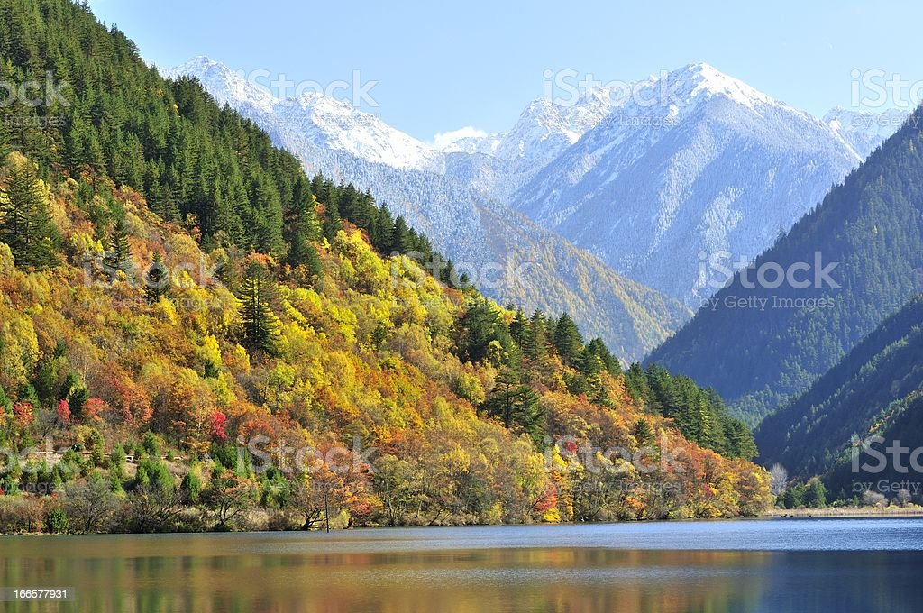 The beautiful scenery of Jiuzhaigou in Sichuan Province, China royalty-free stock photo