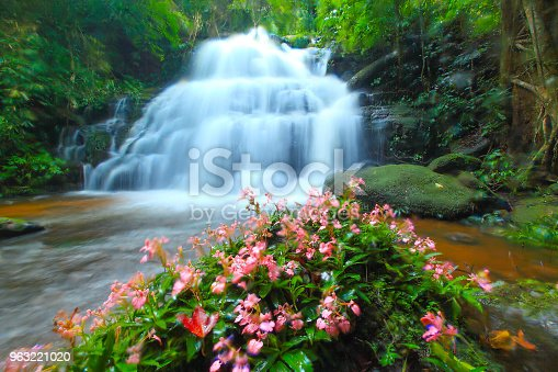 The beautiful scenery view of Mun Daeng waterfalls, Thailand