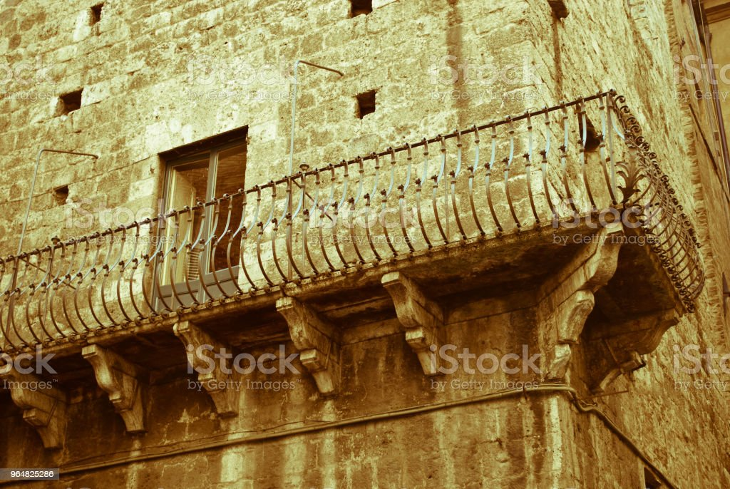 The beautiful Siena,An ancient terrace royalty-free stock photo