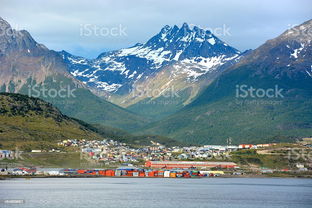 The beautiful small town of Ushuaia, Argentina stock photo