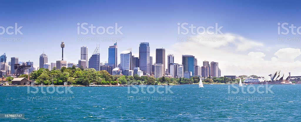 The beautiful Sydney Harbour and City Skyline royalty-free stock photo