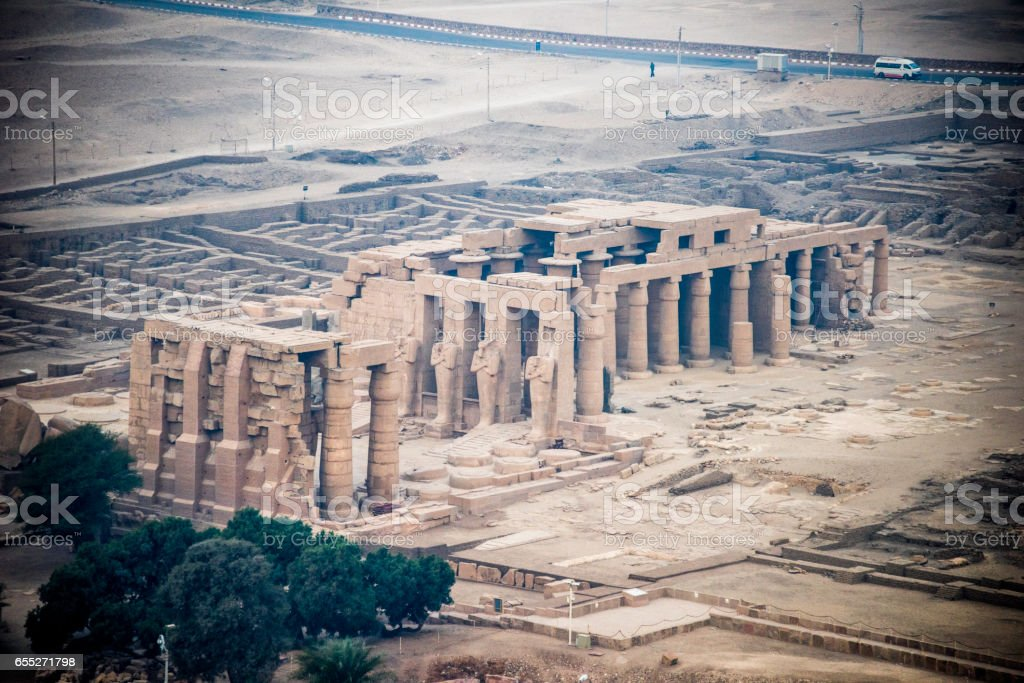 The beautiful, tall pillars of the Luxor Colonnade stock photo