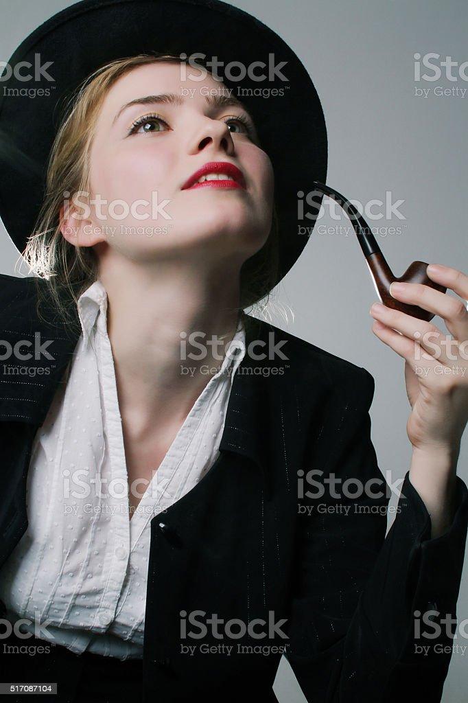 Adolescent filles pipe