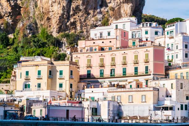 The beautiful village of Atrani in the Amalfi coast Italy stock photo