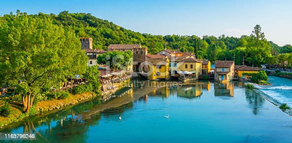 The beautiful village of Borghetto near Valeggio sul Mincio. Province of Verona, Veneto, Italy