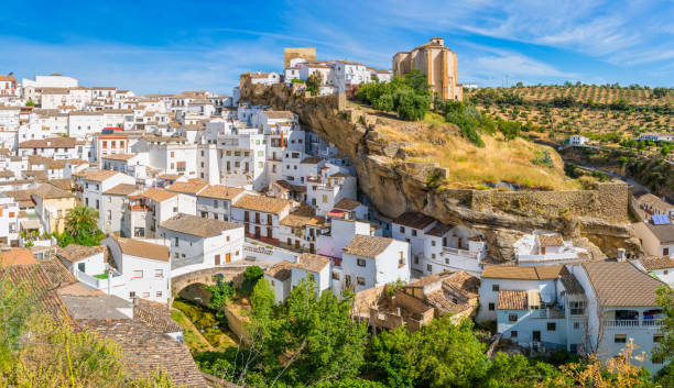 The beautiful village of Setenil de las Bodegas, Provice of Cadiz, Andalusia, Spain. The beautiful village of Setenil de las Bodegas, Provice of Cadiz, Andalusia, Spain. cordoba spain stock pictures, royalty-free photos & images