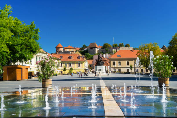 The Beautiful Wine Region of Eger in Hungary stock photo