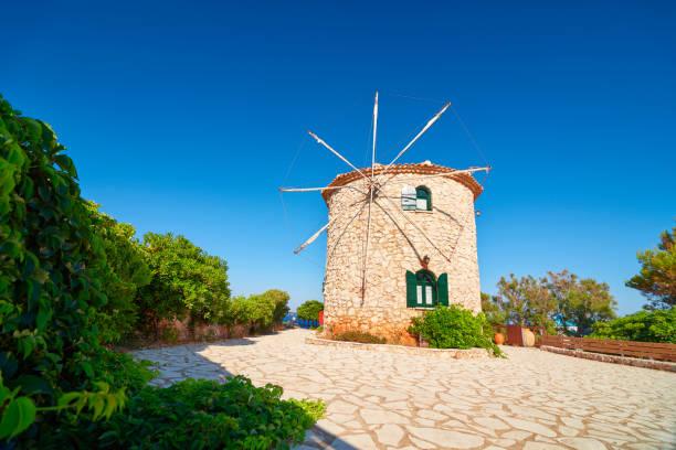 The beautiness of Skinari Windmill. stock photo