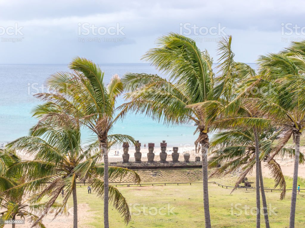 The Beauty of Anakena stock photo