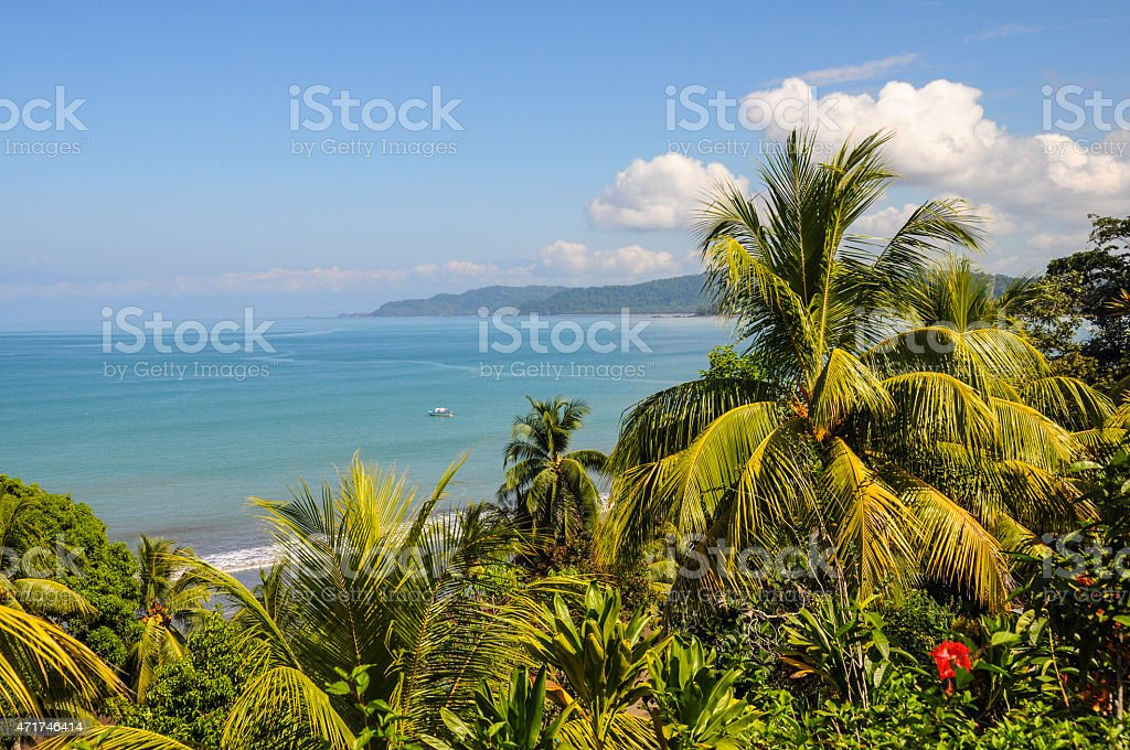 The beauty of Drake Bay stock photo
