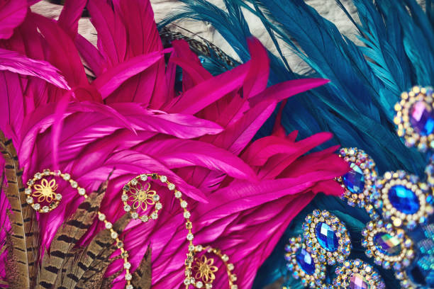 the beauty of extravagance - piume colorate foto e immagini stock