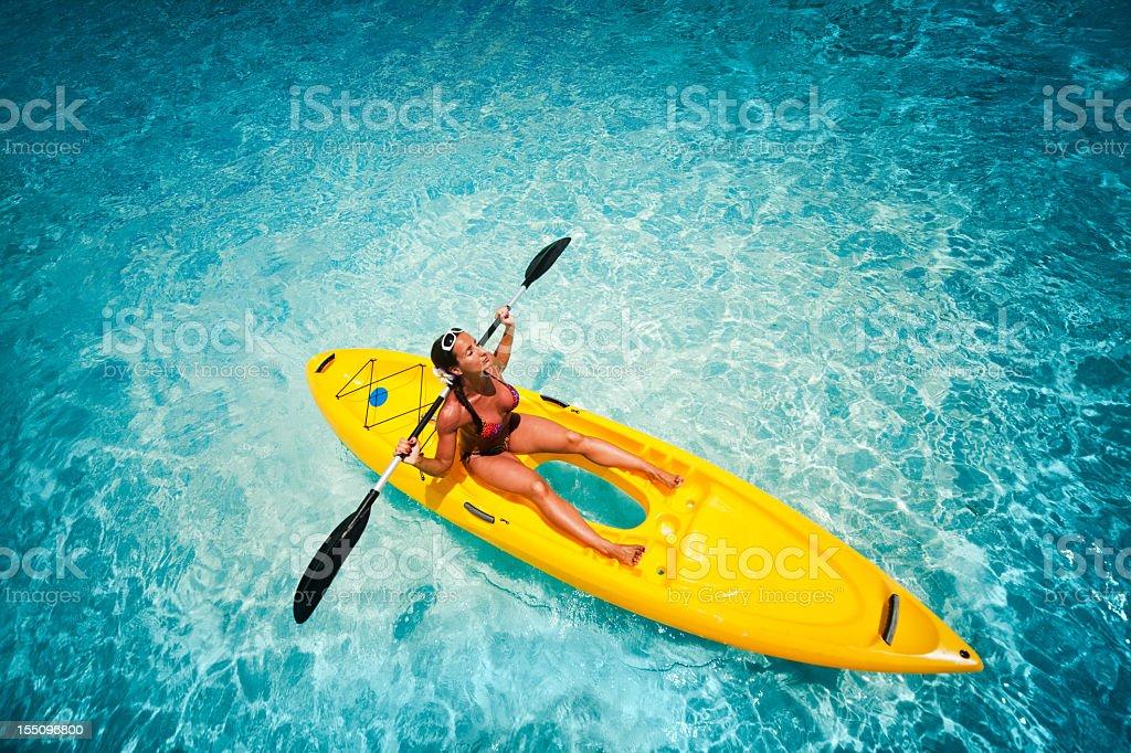 The beauty of kayaking stock photo