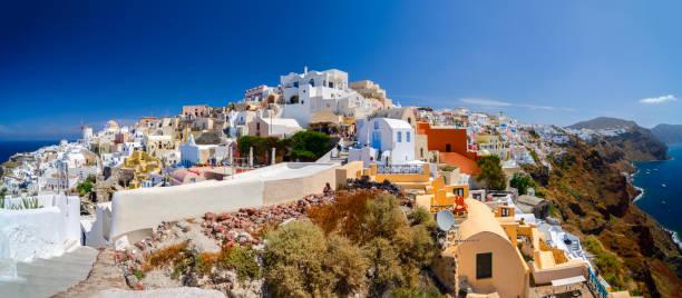 The beauty of Oia - Santorini stock photo