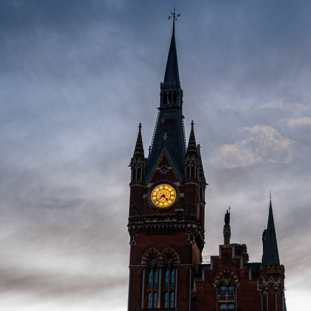 The beauty of St Pancras stock photo