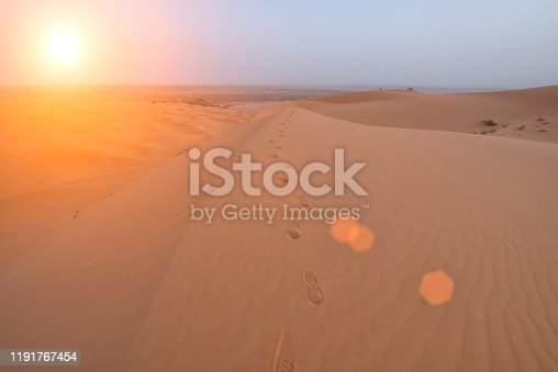 istock The beauty of the sand dunes in the Sahara Desert in Morocco. The Sahara Desert is the largest hot desert and one of the harshest environments in the world. 1191767454