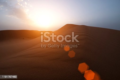 istock The beauty of the sand dunes in the Sahara Desert in Morocco. The Sahara Desert is the largest hot desert and one of the harshest environments in the world. 1191767460