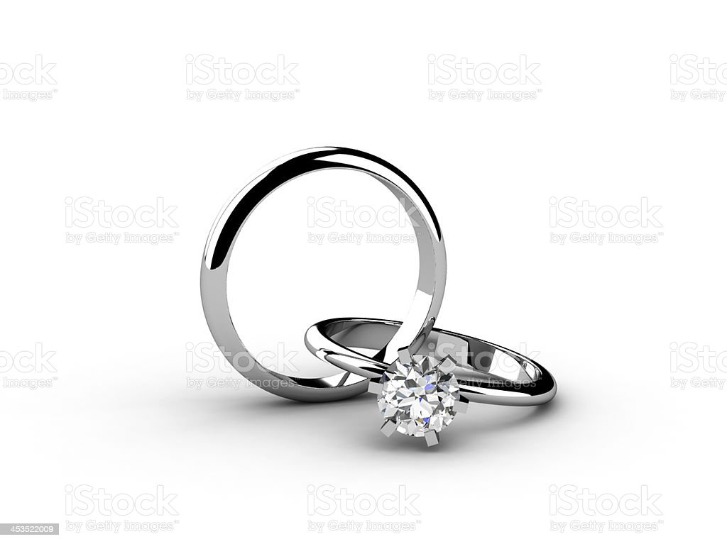 The beauty wedding ring on white background royalty-free stock photo