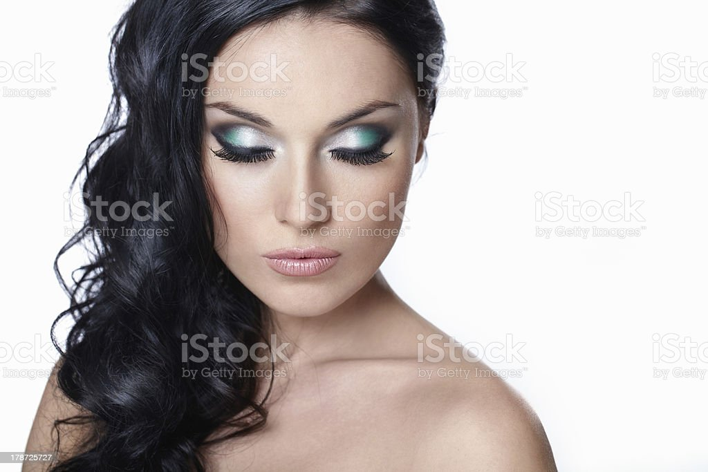 The beauty with my eyes closed stock photo