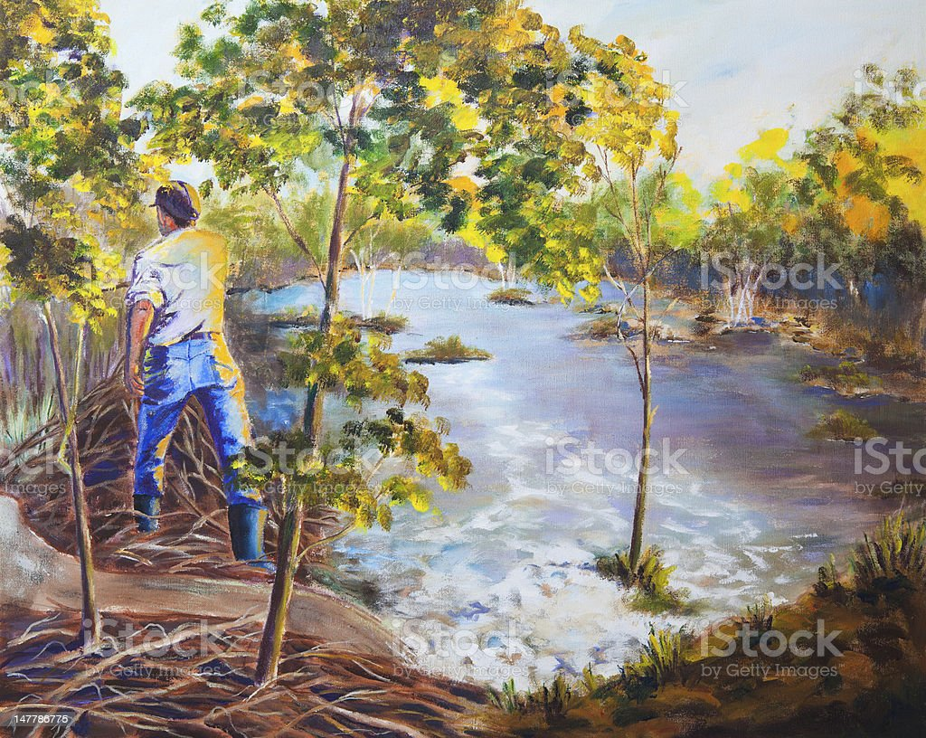The Beaver Dam royalty-free stock photo