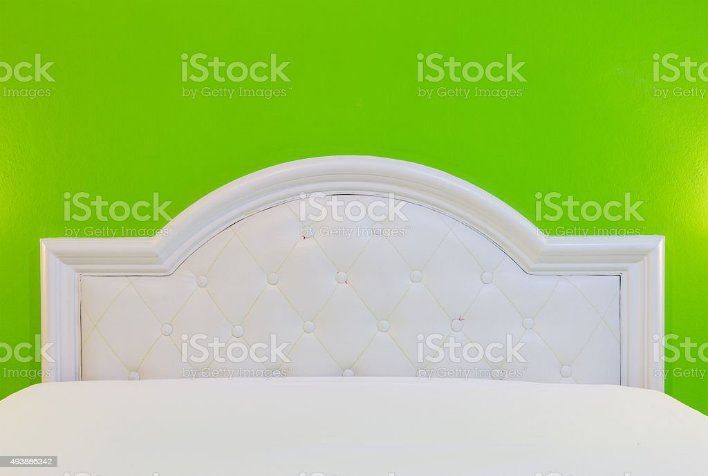 The bed in my room for decorate project. stock photo