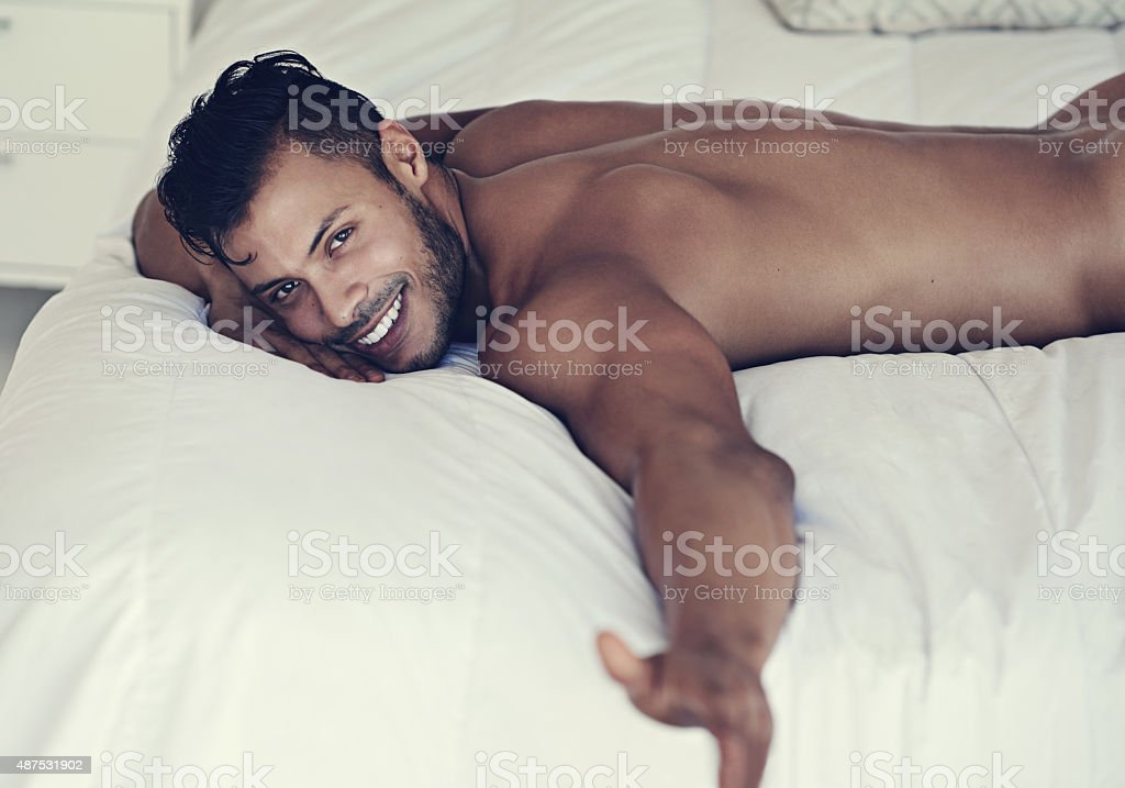 The bed is empty without you stock photo