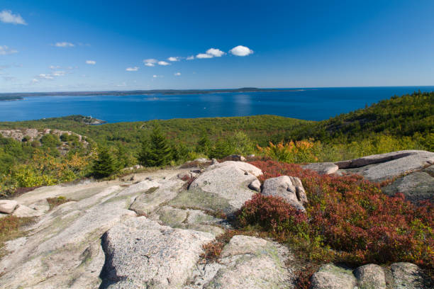 The Beehive Trail, Acadia National Park stock photo