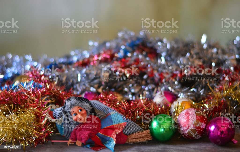 the Befana takes away all the Christmas holidays - foto stock