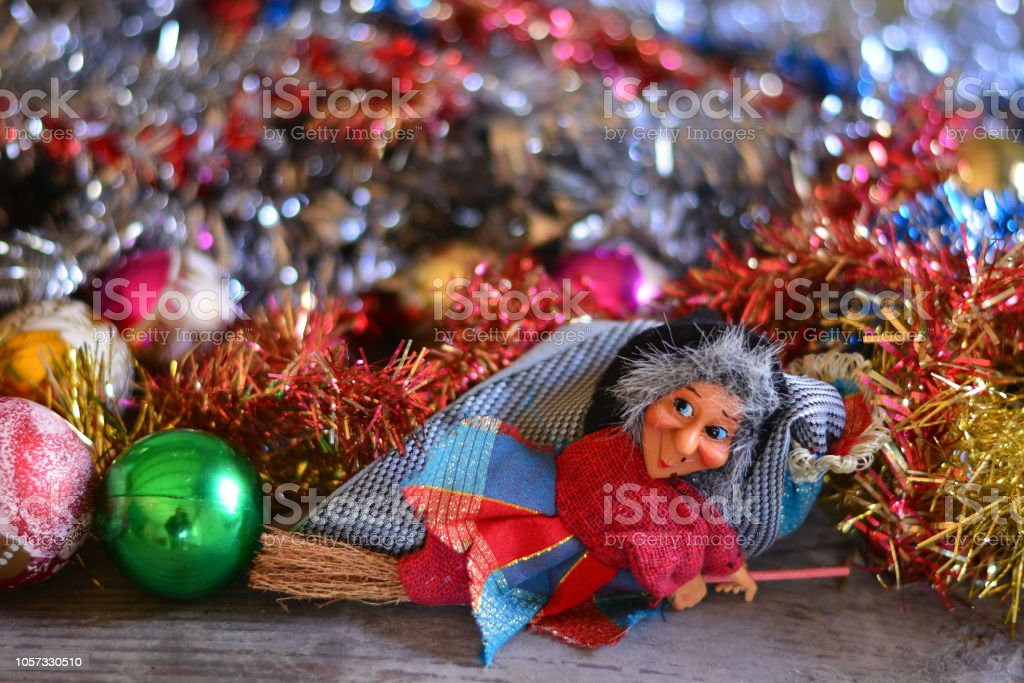 the Befana takes away all the Christmas parties - foto stock