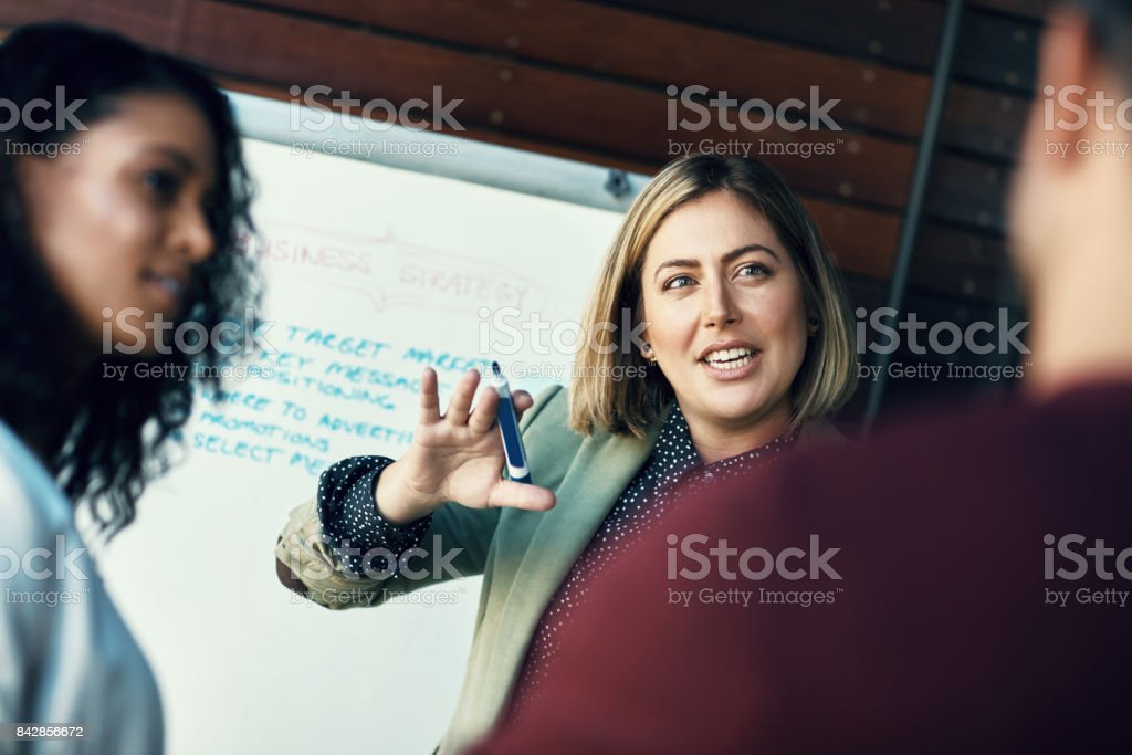 The beginning of a winning strategy stock photo