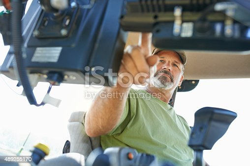 Shot of a farmer working inside the cab of a modern tractorhttp://195.154.178.81/DATA/i_collage/pu/shoots/805487.jpg
