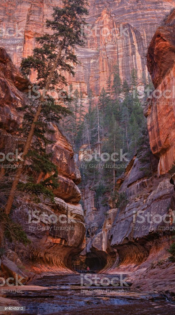 The Beginning of the Zion Subway Section stock photo