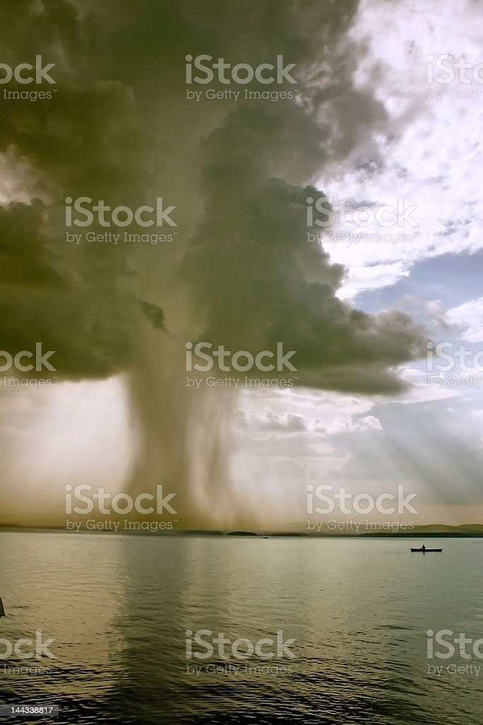 the beginning of  tornado royalty-free stock photo