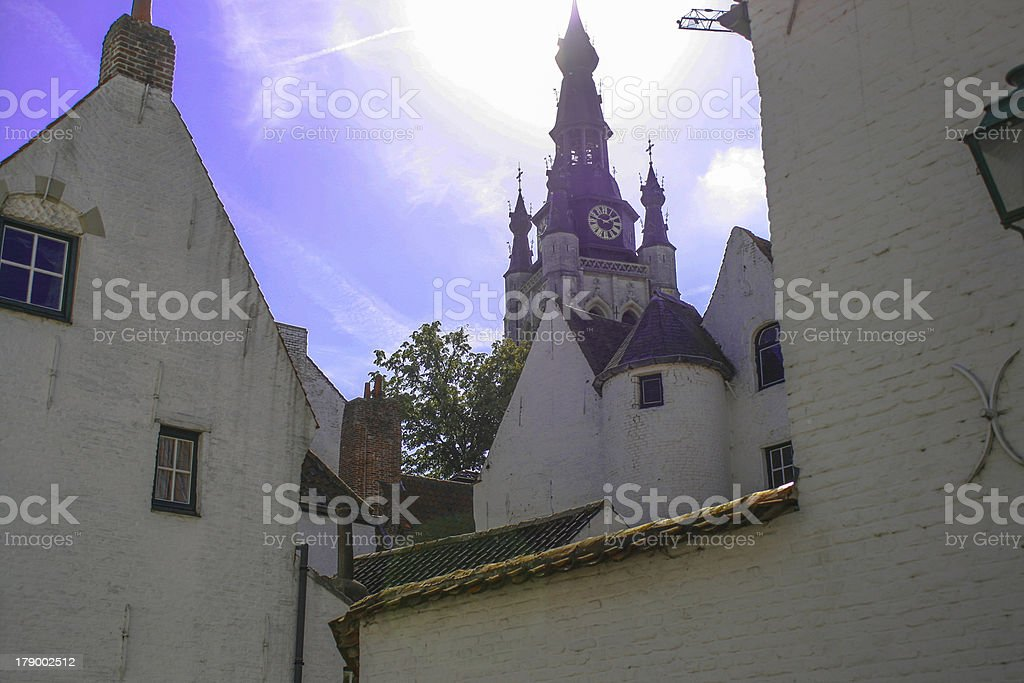 The Beguinage of Kortrijk in Belgium stock photo
