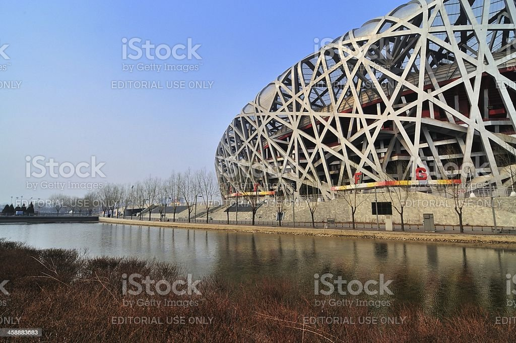 The Beijing National Stadium royalty-free stock photo