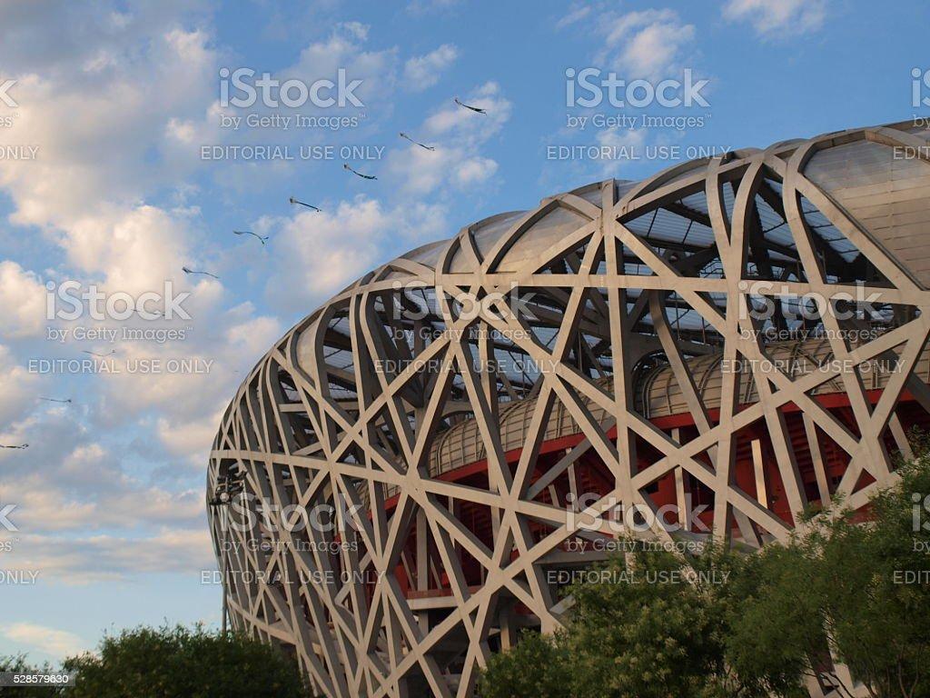 The Beijing National Stadium 'The Bird's Nest' stock photo
