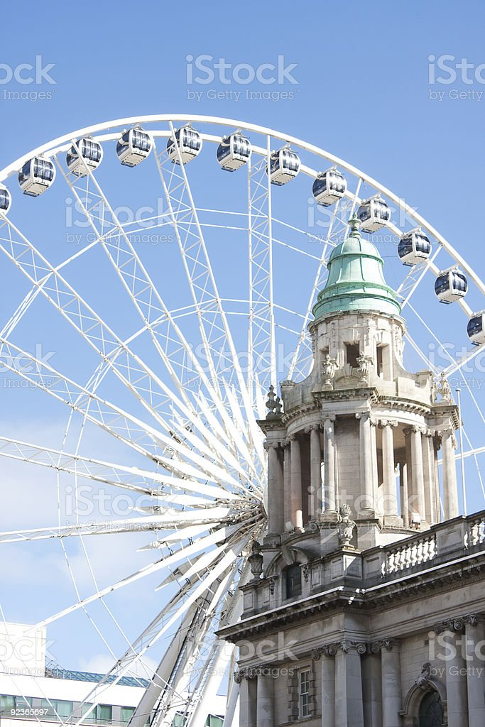 The Belfast Wheel royalty-free stock photo