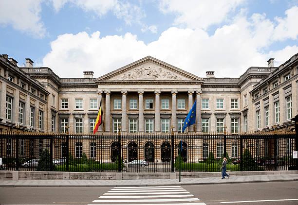 The Belgian Parliament building in Brussels, Belgium stock photo