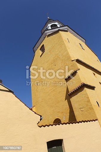 The bell tower in Faaborg is the remainings of the demolished Sct. Nikolai kirke church, on the Island of Funen. The church was demolished in 1539