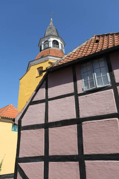 the bell tower, faaborg denmark - pejft stock photos and pictures