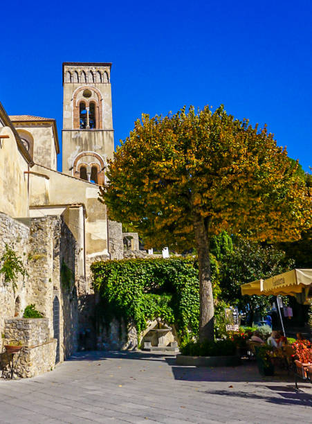 The Bell Tower of Ravello, Italy stock photo